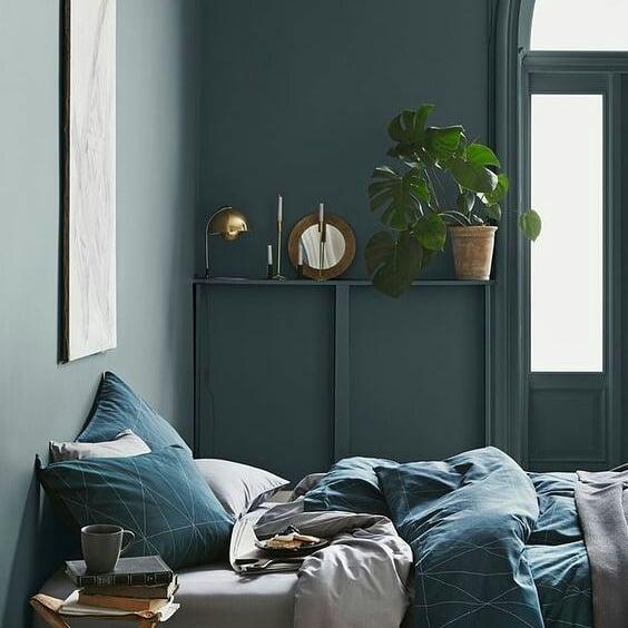 mur végétal dans la décoration de la chambre