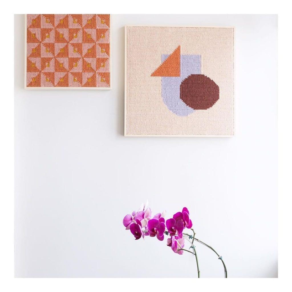 tapisserie avec cadre formant cadres