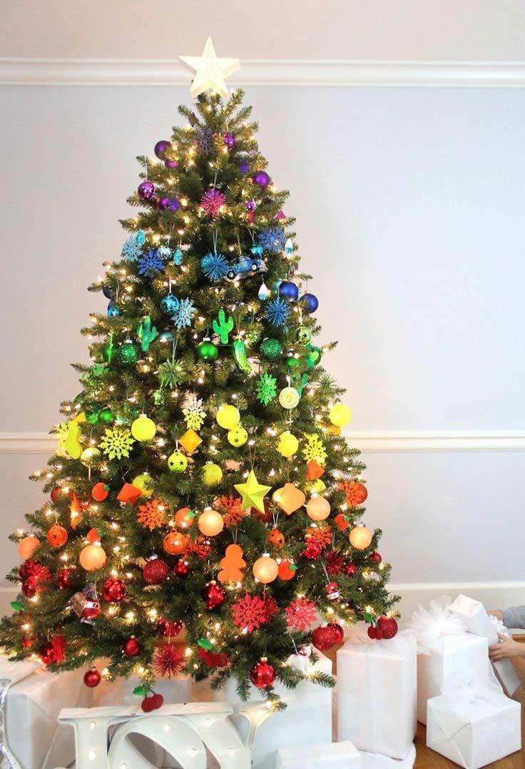 Un dégradé parfait pour la décoration des arbres