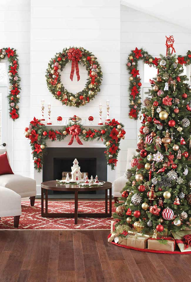 Décoration de Noël dans un style classique