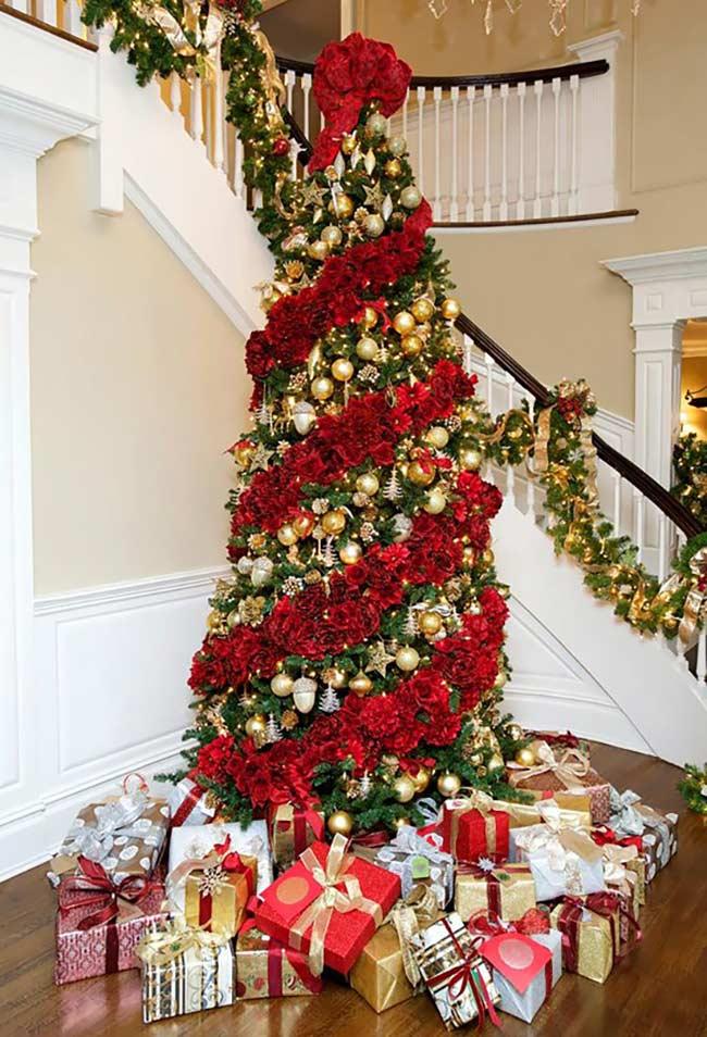 Bandes de couleur sur l'arbre de Noël