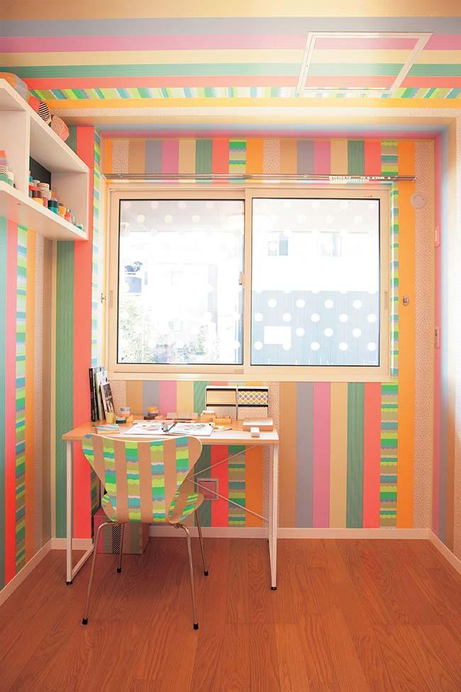 Et que pensez-vous de la décoration de l'ensemble, mais de la décoration de la pièce avec du ruban électrique coloré?