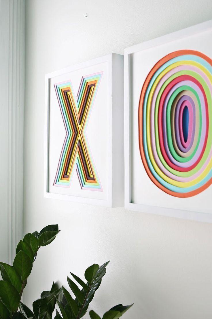Profondeur, couleur et forme dans les cadres décorés avec du ruban isolant