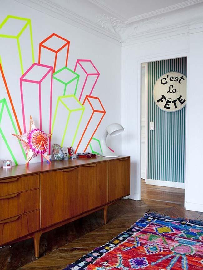 Décoration avec ruban électrique: libérez votre créativité et permettez-vous de créer différentes formes sur les murs