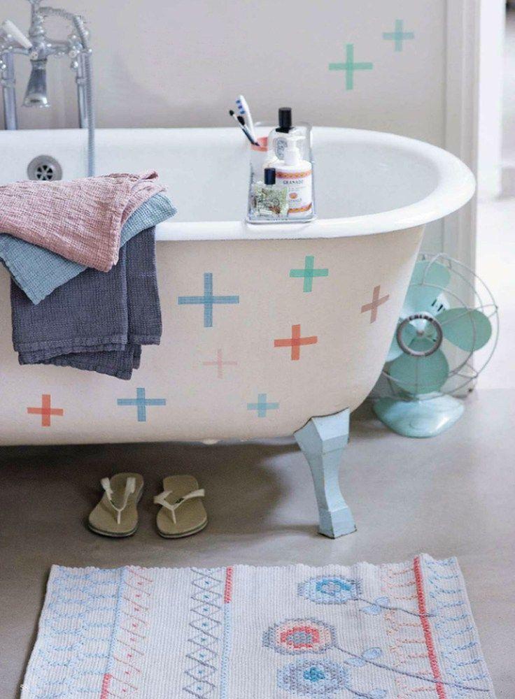 Décoration avec ruban électrique: la baignoire est également entrée dans la vague du ruban électrique