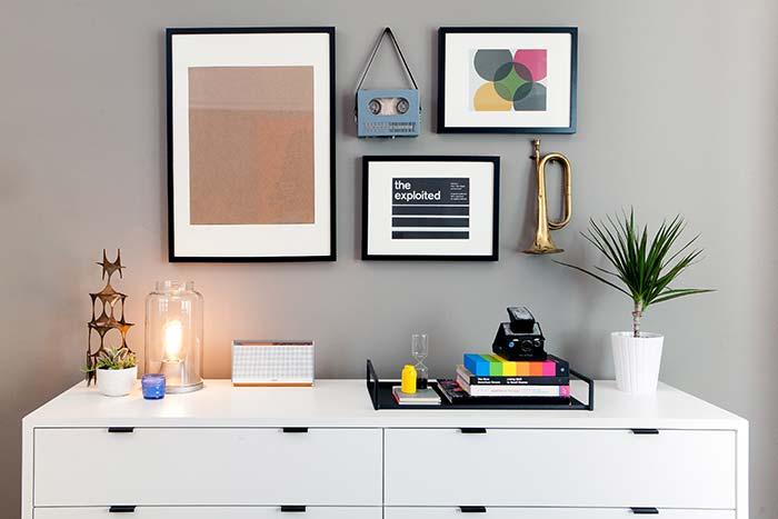 Décoration avec ruban électrique noir et blanc: combinaison parfaite