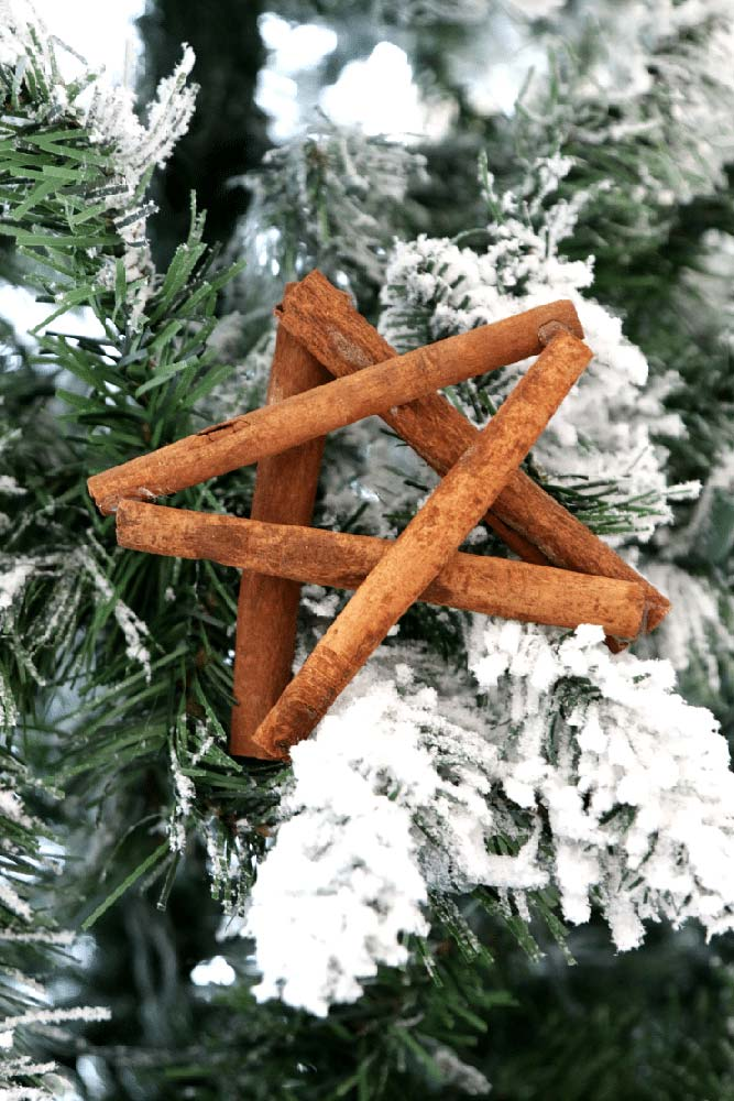 Une étoile rustique et aromatique à base de bâtons de cannelle
