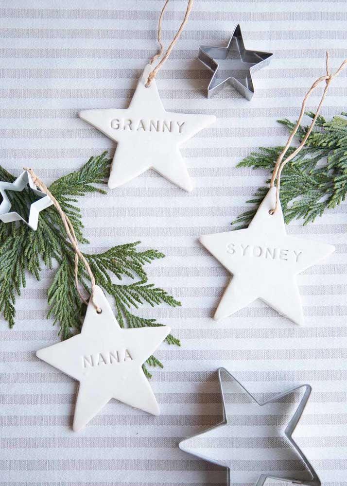 Étoiles de Noël personnalisées