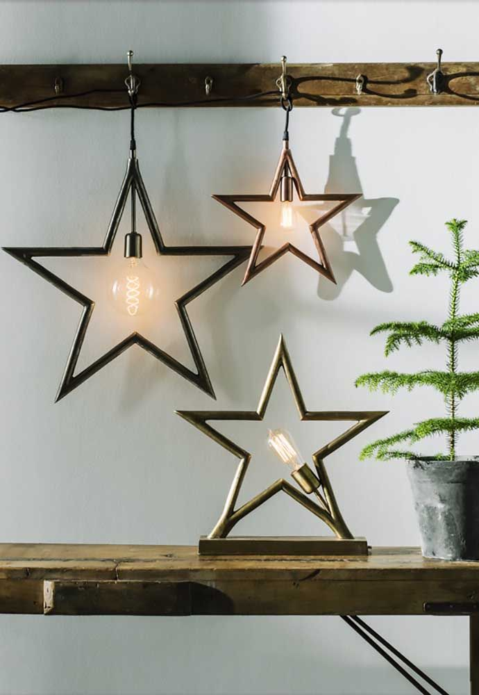 Sur chaque étoile, une lampe: utilisez-les comme lampes ou ornements