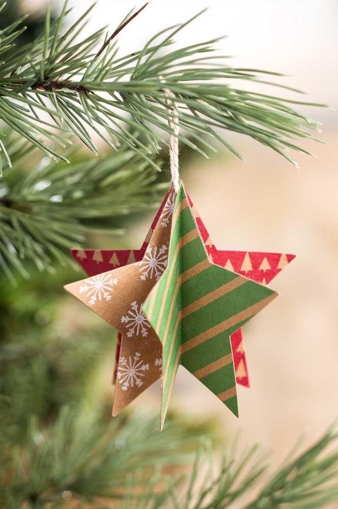 Une étoile de Noël différente pour chaque côté que vous regardez