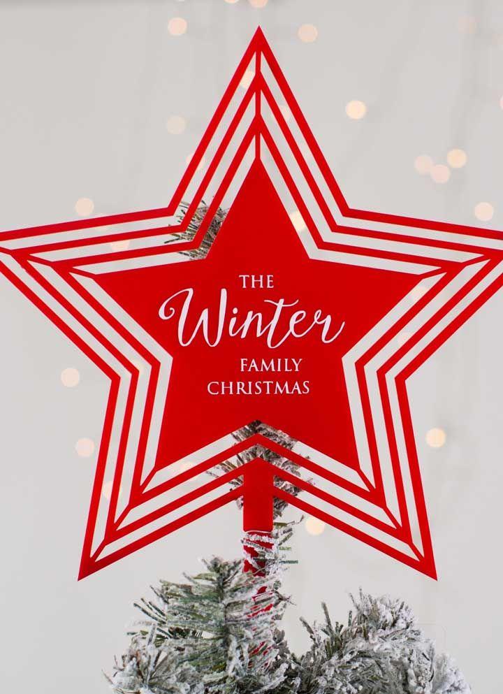 Mettez un message au centre de votre étoile de Noël