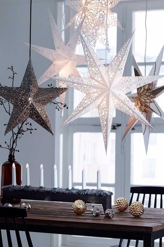 Élégance pure ces étoiles de Noël creuses
