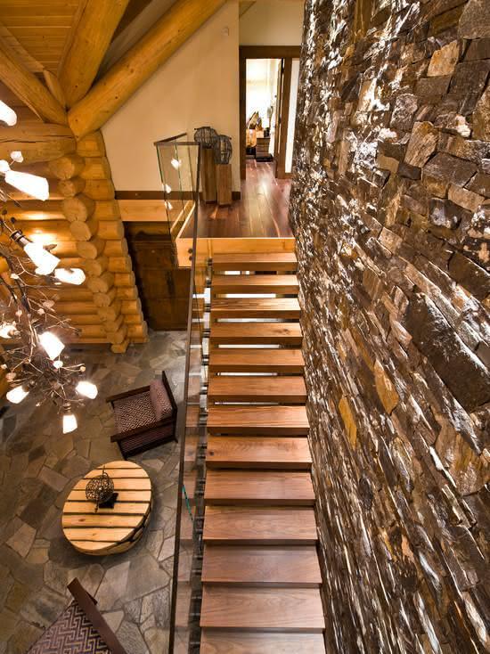 Escalier de style rustique