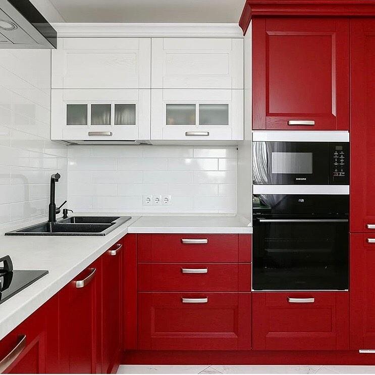 petite cuisine rouge