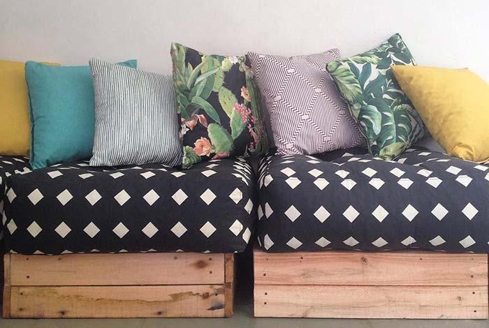 Banc de palette confortable