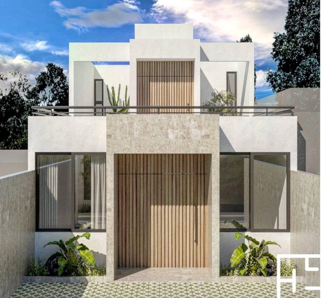 maison avec balcon