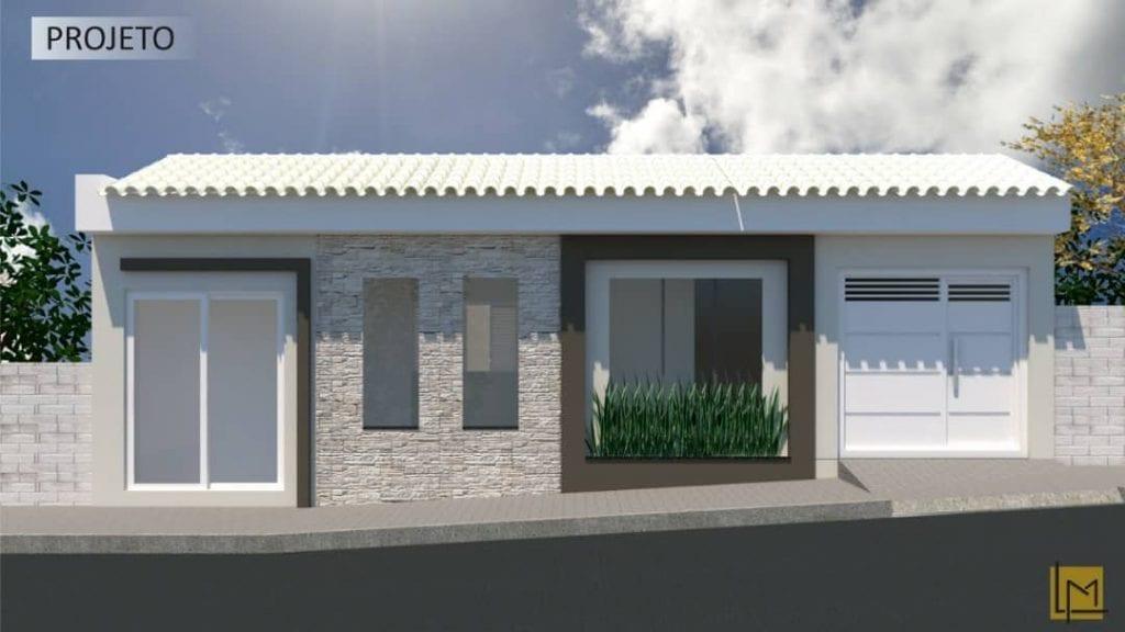 façade de maison simple