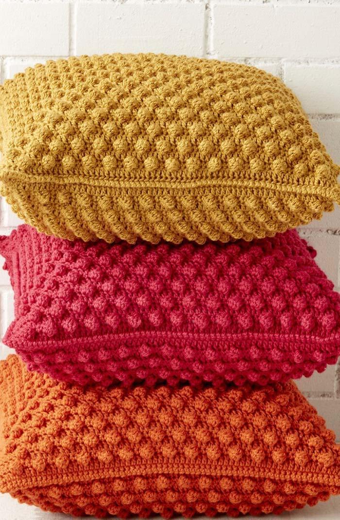 Ensemble de housse de coussin au crochet