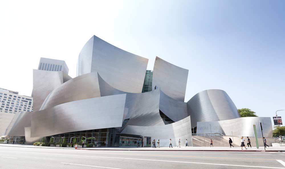 Mur d'architecture contemporaine Disney Concert Hall