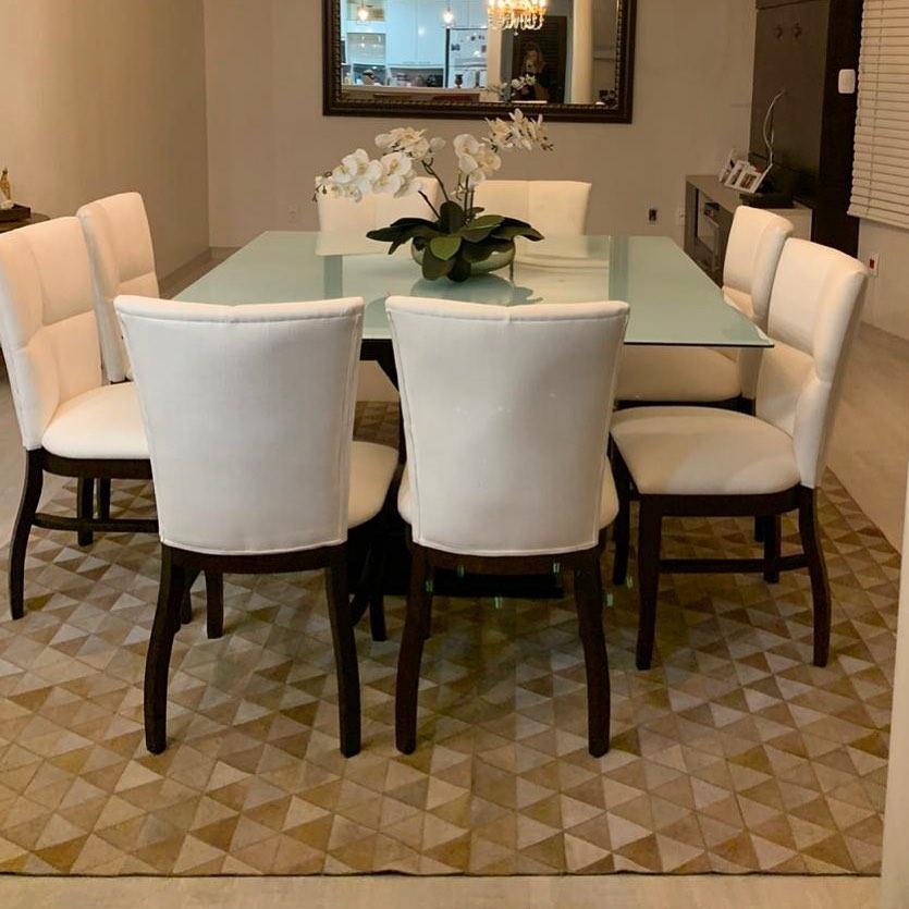 tapis de salle à manger en cuir