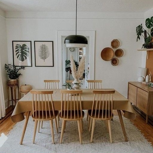 salle à manger tapis rustique