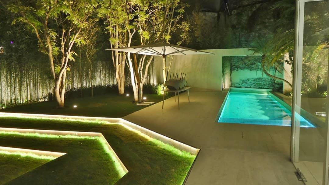 éclairage de jardin