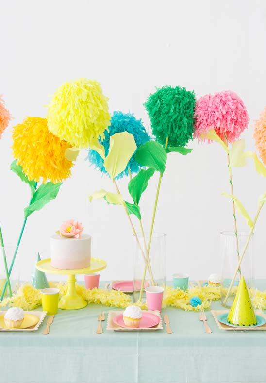 Pompon en papier pour décorer les fêtes