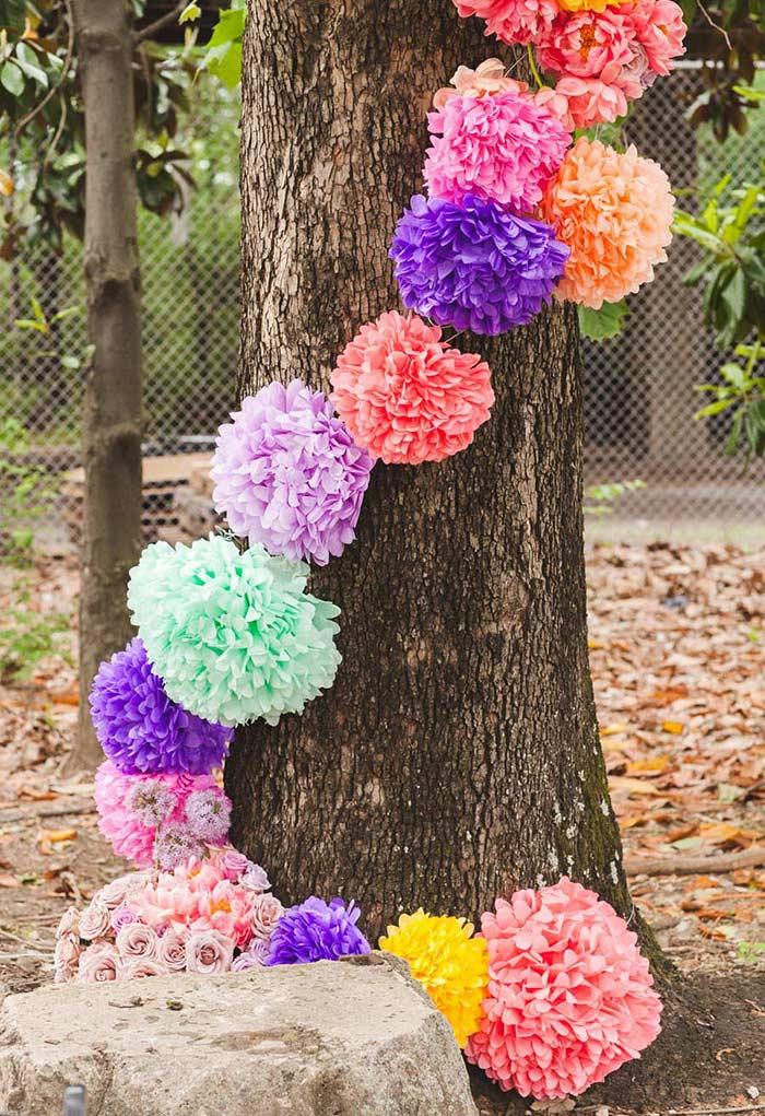 Pompon pour décoration extérieure