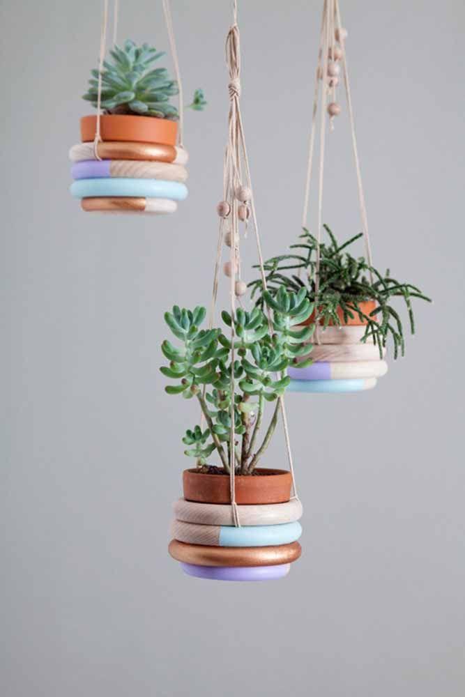 Anneaux superposés: une autre option créative pour créer un cache-pot