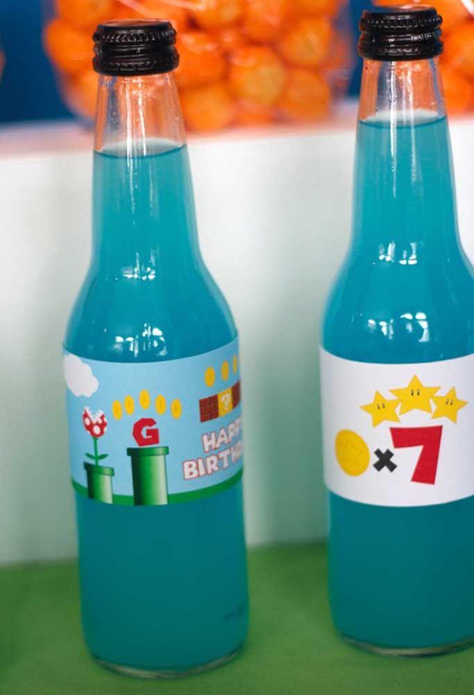 Même les bouteilles de boisson doivent suivre le modèle de couleur.