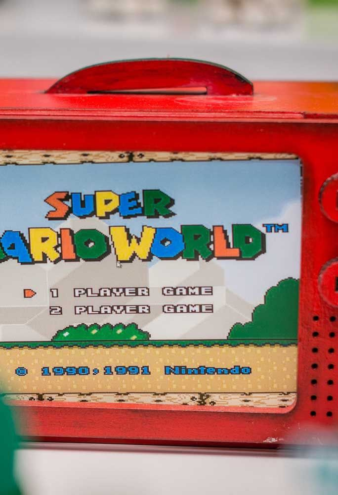Recyclez certains matériaux pour vous souvenir du célèbre jeu Mario Bros.