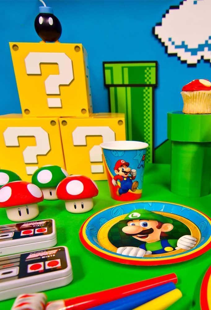 Faites de la table d'anniversaire le vrai jeu de Mario Bros.