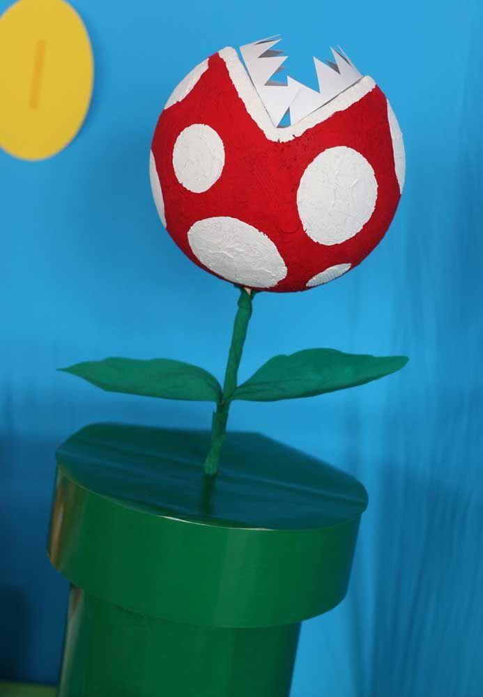 Avec du polystyrène et du papier, vous pouvez créer tous les éléments du jeu Mario Bros pour décorer la fête.