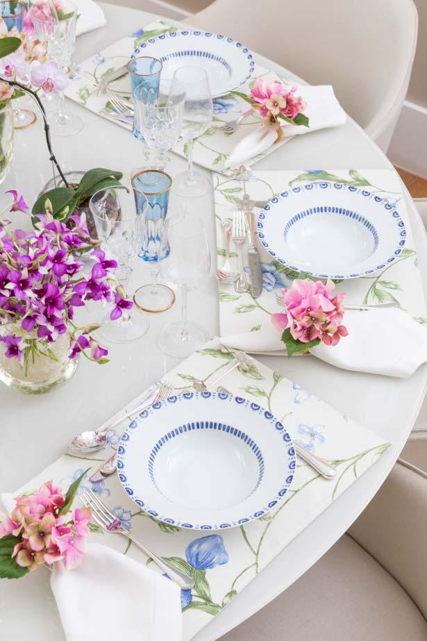 Sets de table avec imprimé floral pour set de table