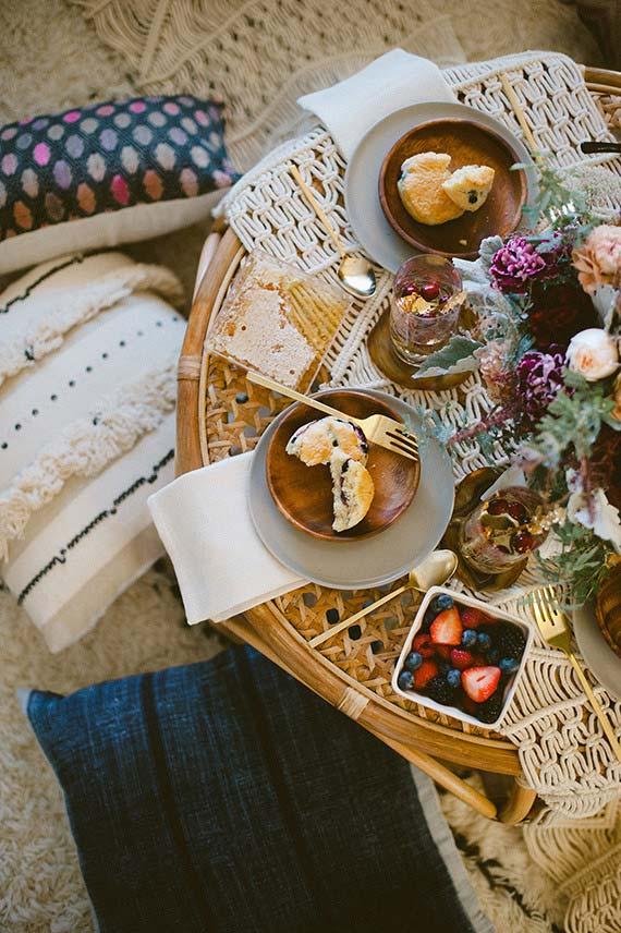 Belle table pour le café de l'après-midi