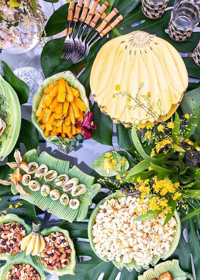 Set de table pour apéritifs et collations