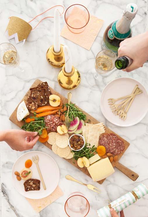 Set de table avec fourchettes pour apéritifs