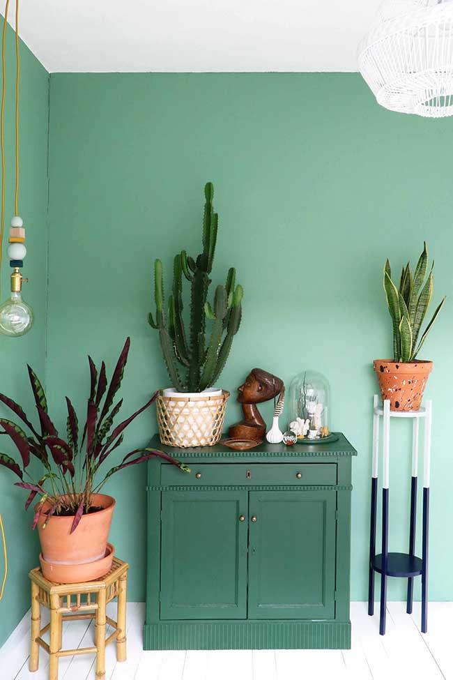 Mur de jade vert