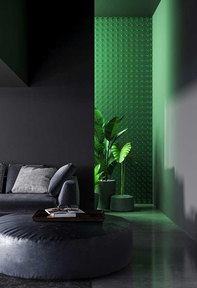 chambre moderne mise sur l'ombre du vert jade