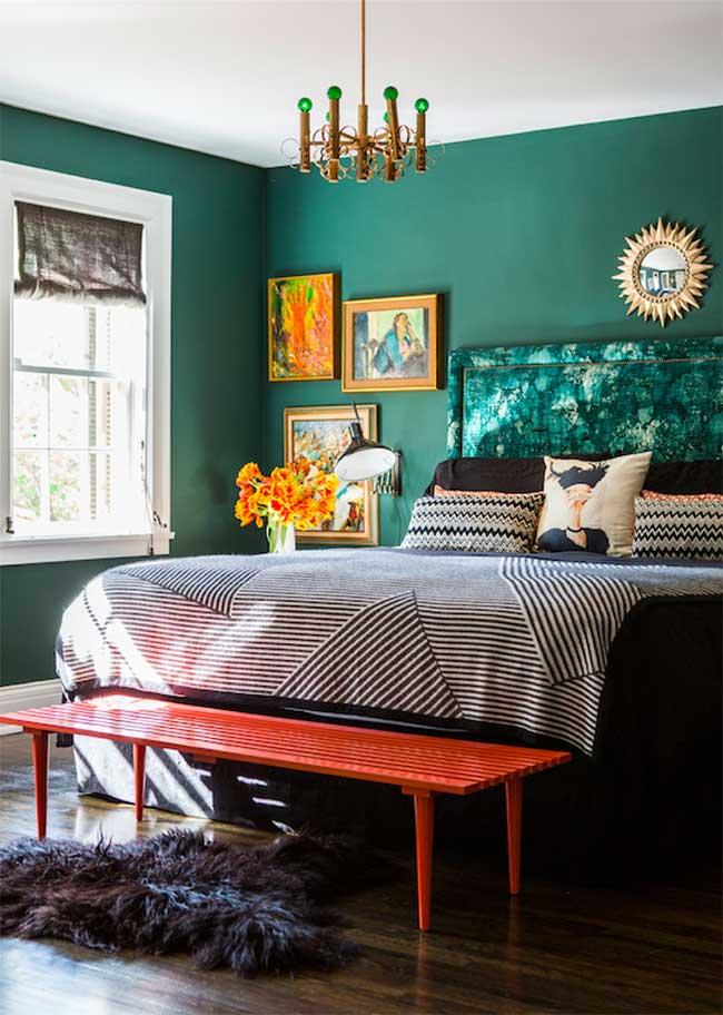 Mur végétal en chambre double
