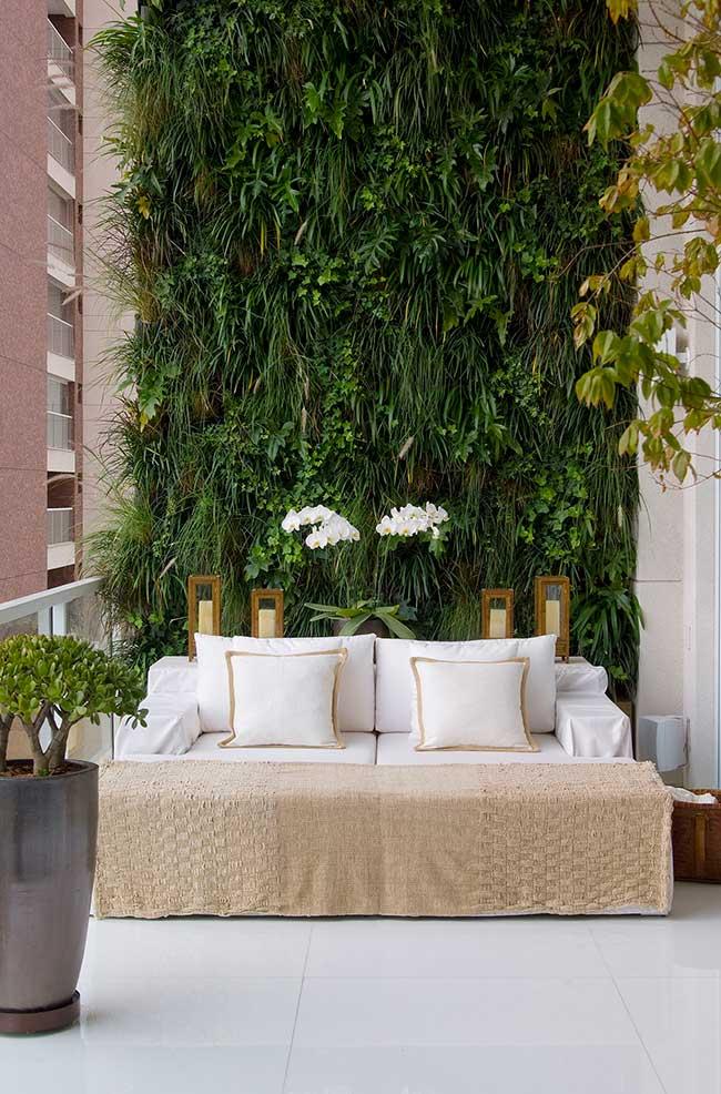 Mur végétal sur balcon gastronomique