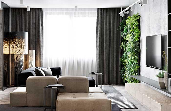 Mur végétal au design moderne