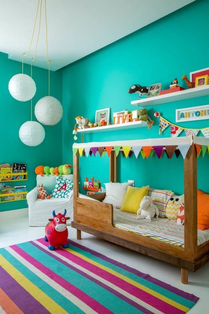 Chambre d'enfants mur végétal