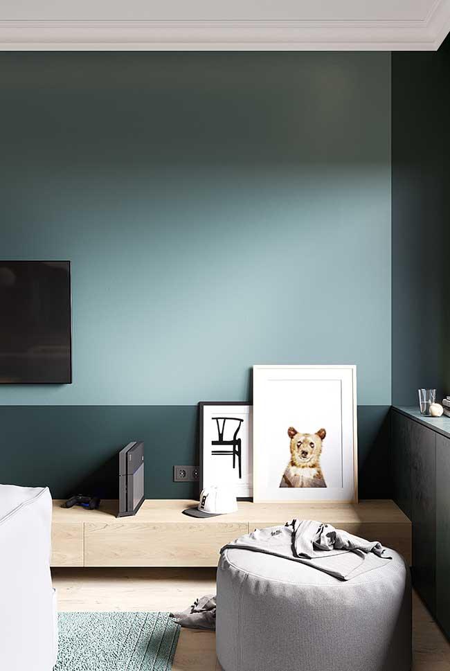 Mur végétal bicolore