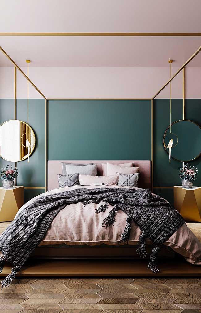 Tête de lit vert olive