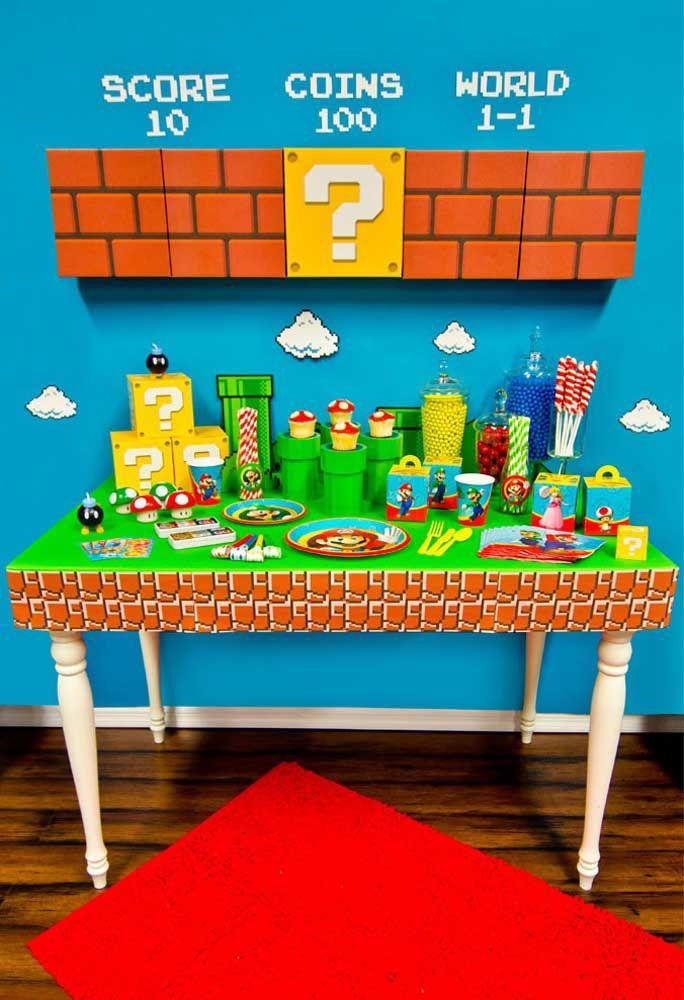 Le panneau de brique est la marque déposée de Mario Bros.  Vous pouvez utiliser le même modèle pour mettre sur la table.